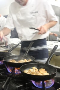 Imagine cooking scallops for 200+ people!