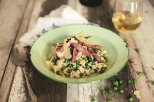 Ham Hock and Pea Risotto